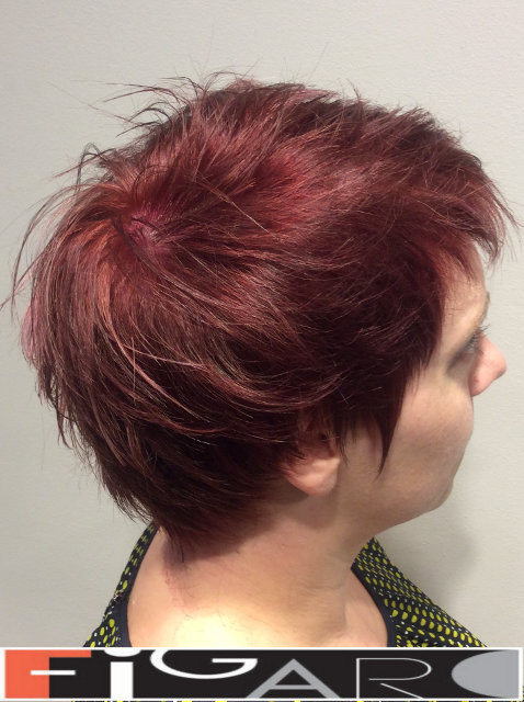 Short  Pixie hair cut by Figaro Hair Salon Toronto