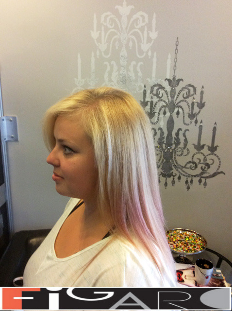 Blonde Hair, Soft Pink Ombre. Olaplex. Goldwell. L'Oreal by Figaro - Best Toronto's Hair Salon