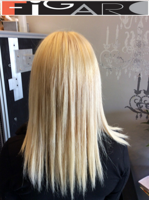 Platinum Blonde Hair, Shoulder Length by Figaro - Best Toronto's Hair Salon