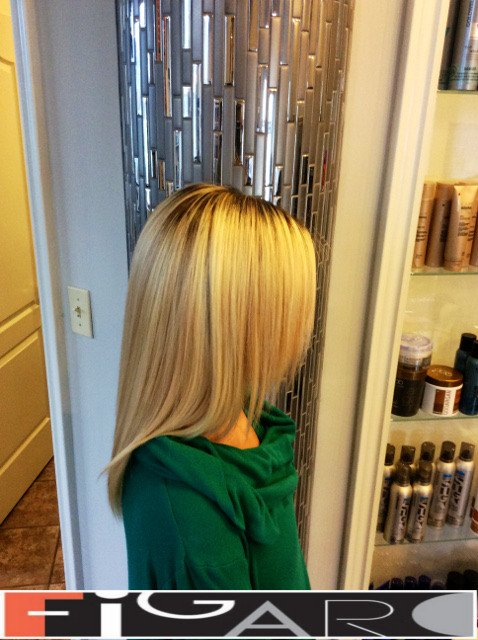 Honey Blond Hair, Dark Roots Ombre. Olaplex. Goldwell. by Figaro - Best Toronto's Hair Salon