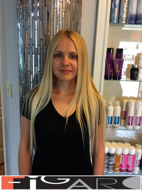 Light Blond Hair, Long Length by Figaro - Best Toronto's Hair Salon