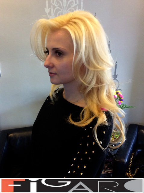 Soft Blond Hair with Highlights by Figaro - Best Toronto's Hair Salon