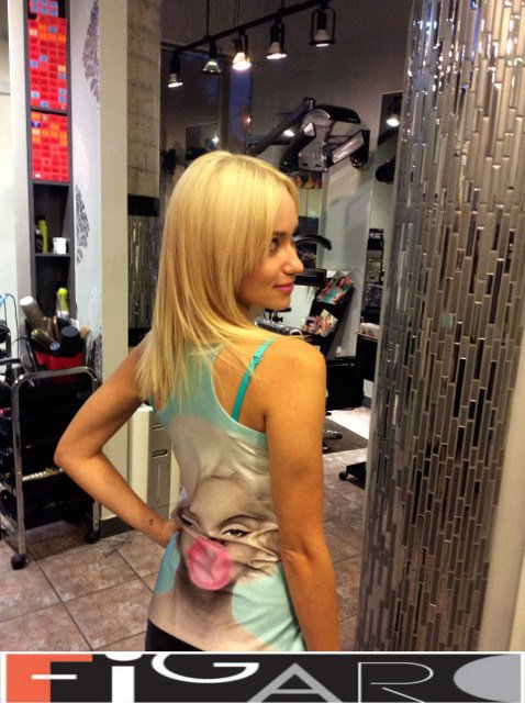 Golden Blonde Hair, Medium Length by Figaro - Best Toronto's Hair Salon