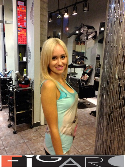 Golden Blonde Hair, Shoulder Length by Figaro - Best Toronto's Hair Salon