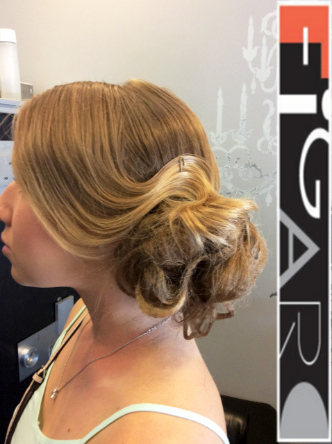 Bridal Low Updo HairStyle by Figaro - Best Toronto's hair Salon