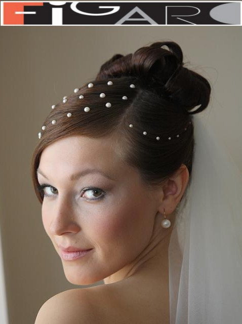 Bridal Updo with Veil by Figaro - Best Toronto's hair Salon