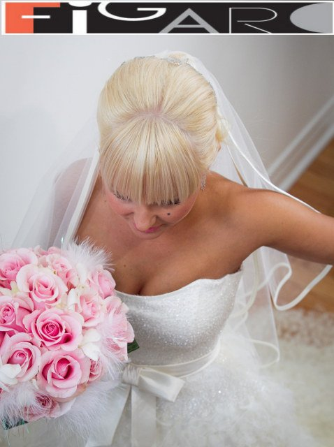 Bridal Updo Hairstyles with Tiara by Figaro - Best Toronto's hair Salon