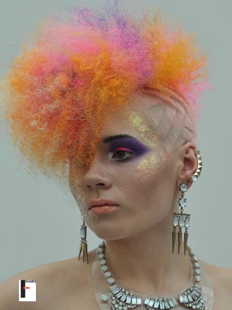 artistik Hair cut colour at omc europe cup 2013 by elena