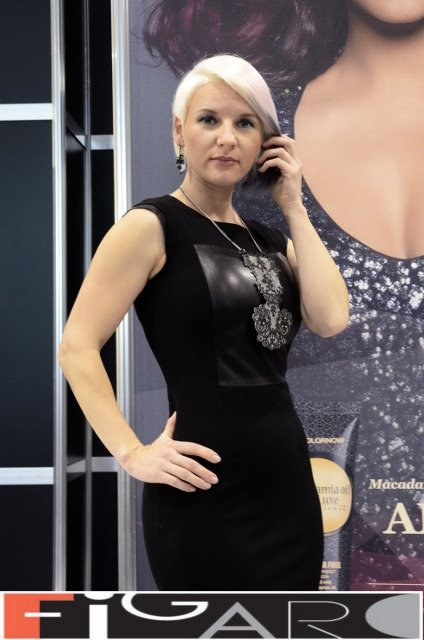 Asymmetrical undercut Bob Style Platinum Silver at ABA TORONTO 16 by Figaro - Best Toronto's hair Salon