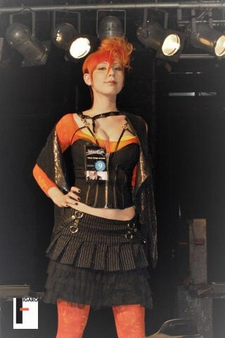 1st place professional Schwarzkopf Toronto 2010 vibrant orange haircut