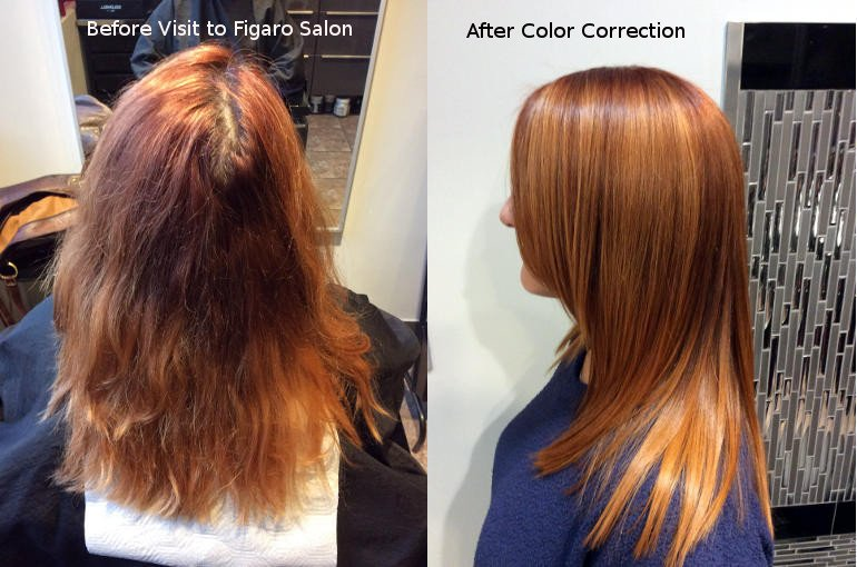 Hairs Hair color correction Toronto by Figaro Salon Team