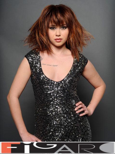 Bronze Hair Color Layered Medium Length Cut Fine Hair Style by Figaro - Best Toronto's hair Salon