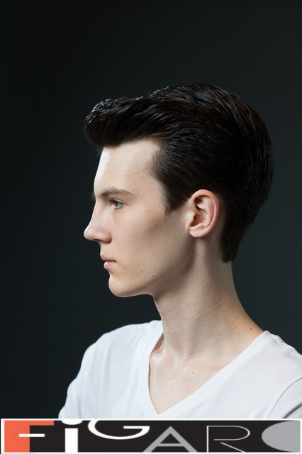 Classic casual men's Hairstyle done by Figaro Salon Toronto