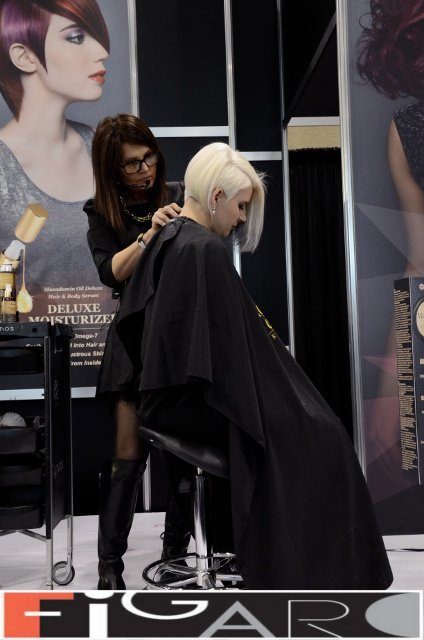Elena's work with Platinum Blond at ABA TORONTO by Figaro - Best Toronto's hair Salon