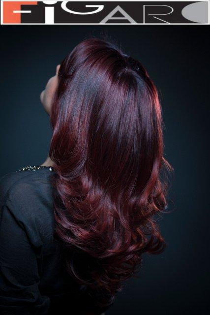 Diva Style Multi red Hair Color Toronto by Figaro - Best Toronto's hair Salon