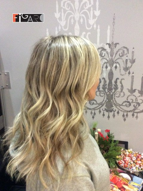 Airtouch Highlights Toronto. We use Olaplex L'oreal Goldwell