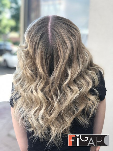 Air Touch Highlights by Award winning  Figaro Salon-BEST in Toronto.