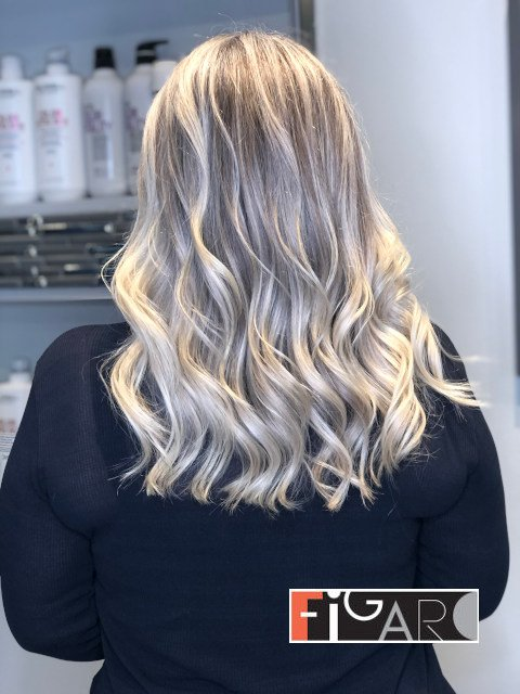 Air Touch Highlights Award winning  Figaro Salon-BEST in Toronto.