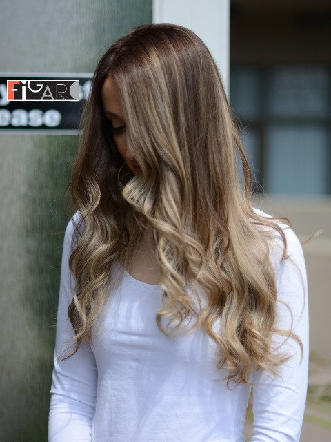 balayage 2019 by Award winning Figaro Salon-BEST in Toronto. We use Olaplex L'oreal Goldwell