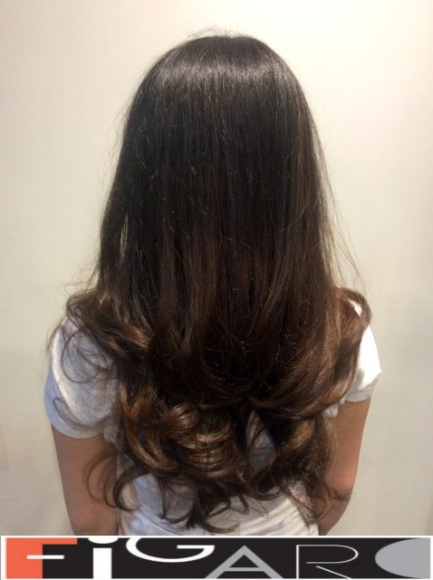 Classic hair coloring for one tone Figaro Hair Salon Toronto