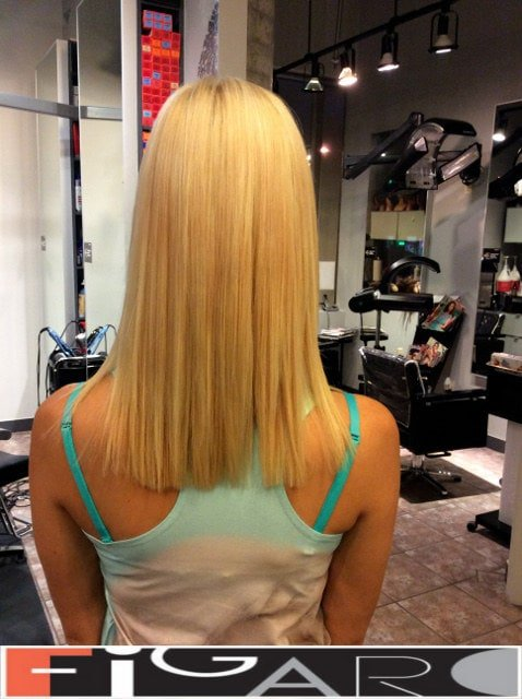 Classic hair coloring for blond Figaro Hair Salon Toronto