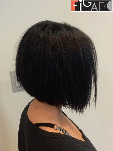 Graduated Bob Cut Dark Brown Hair by Figaro Salon delivering best haircuts for women
