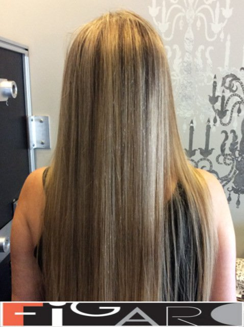 Blonde Highlights Long Hair by Award winning  Figaro Salon-BEST in Toronto.