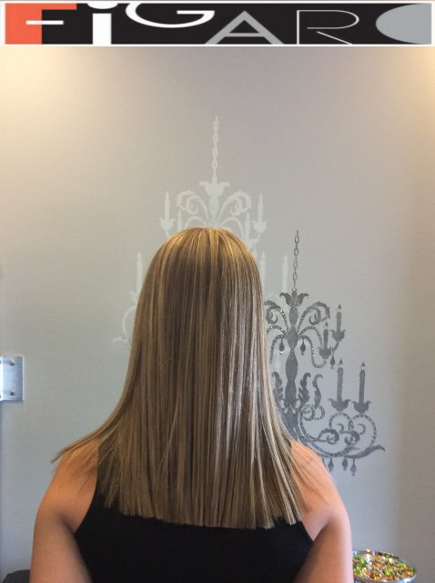 Platinum Highlights on Blonde Hair Figaro Salon-BEST in Toronto.