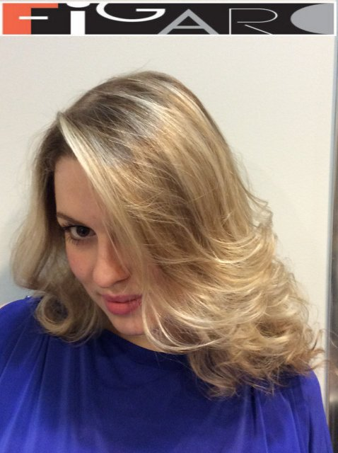 Blond Highlights Layered Cut by Figaro Hair Salon Director