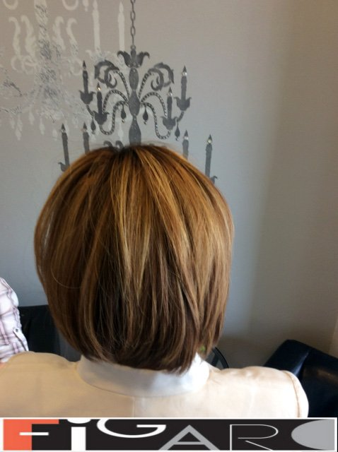 Layered Bob Medium Length Hair Soft Caramel Balayage Figaro Hair Salon Toronto