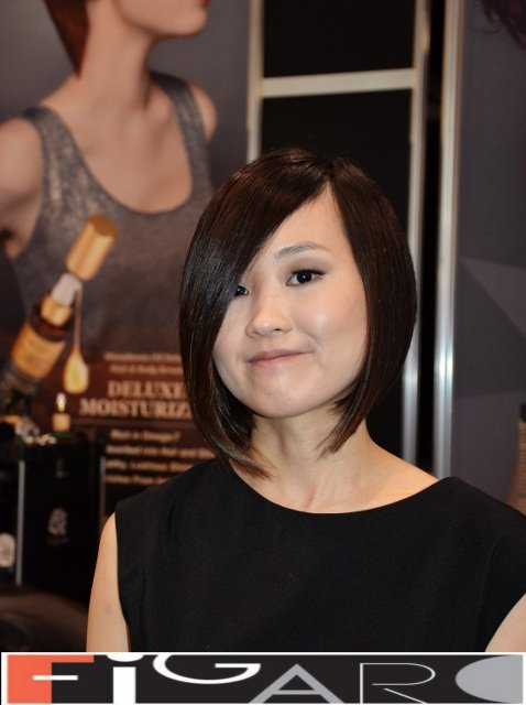 A Line Bob Cut Ash Brown Hair Figaro Hair Salon Director