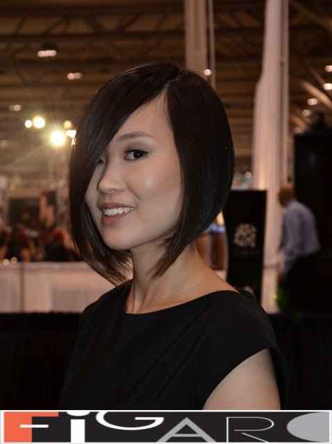 A line Bob Cut Brown Caramel Asian Hair by Figaro Hair Salon Director
