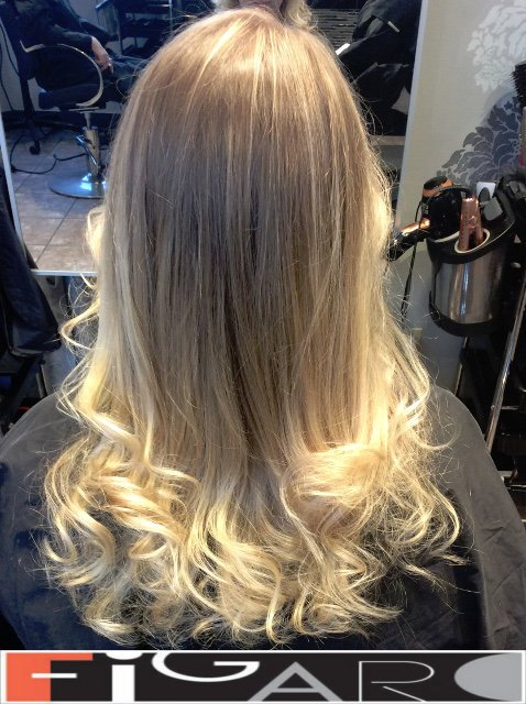 Icy Blonde Ombre Highlights Hair by hair experts