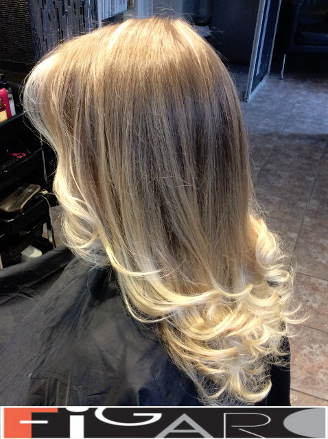 Icy Blonde Ombre Highlights Hair by Figaro Team