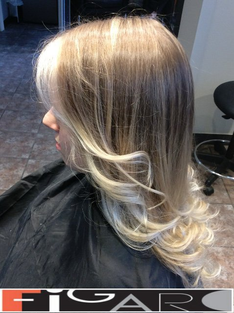Icy Blonde Ombre Highlights FIGARO Hair salon