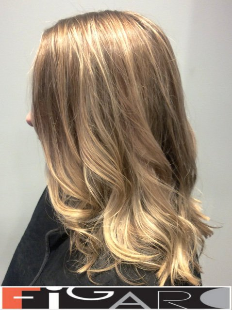 Icy Blonde Ombre Highlights Hair by Figaro Salon