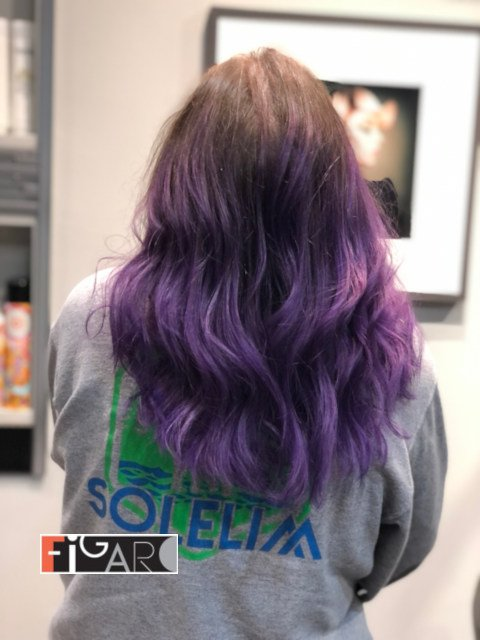 Violet Ombre Highlights Hair by Figaro Team
