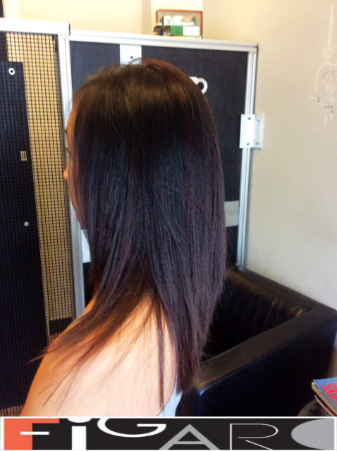 Soft Ombre Dark Hair done by figaro salon