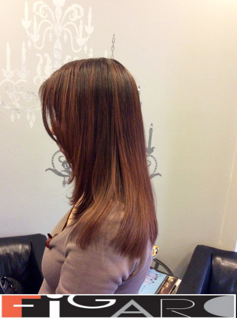 Ombre Hair Brown to Soft Caramel Medium Lengthdone by figaro salon