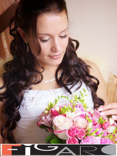 Bridal HairStyles Half up Half Down Curls by Figaro - Best Toronto's hair Salon